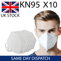 10x KN95 Face Masks - Reusable FFP2 N95